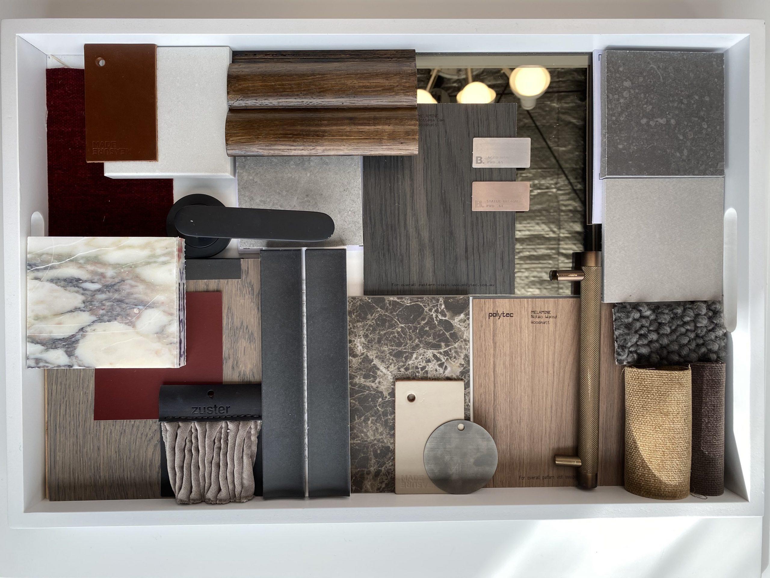 interior design flatlay
